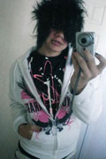 Emo Guy Boy - White Hoody
